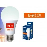 Низковольтная cветодиодная лампа LED-A60-10W/NW/E27/FR/12-24V PLO55WH