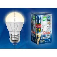 Светодиодная лампа диммируемая LED-G45-6W/WW/E27/FR/DIM PLP01WH картон