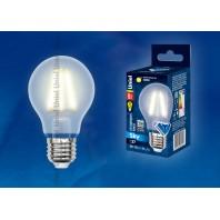 Светодиодная лампа LED-A60-8W/WW/E27/FR PLS02WH SKY серия матовая колба