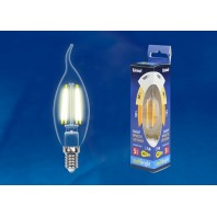 Светодиодная лампа СВЕЧА НА ВЕТРУ прозрачная. Серия Multibright. Теплый белый свет (3000K). LED-CW35-5W/WW/E14/CL/MB GLM10TR Картон. ТМ Uniel.