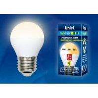 Светодиодная лампа Серия Multibright LED-G45-6W/WW/E27/FR/MB PLM11WH ТМ Uniel.