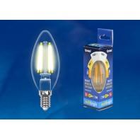 Светодиодная лампа СВЕЧА прозрачная. Серия Multibright. Теплый белый свет (3000K). LED-C35-5W/WW/E14/CL/MB GLM10TR Картон. ТМ Uniel.