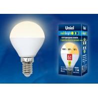 Светодиодная лампа Серия Multibright LED-G45-6W/WW/E14/FR/MB PLM11WH ТМ Uniel.