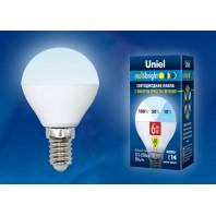 Светодиодная лампа Серия Multibright LED-G45-6W/NW/E14/FR/MB PLM11WH ТМ Uniel.