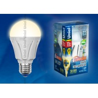 """Лампа светодиодная диммируемая LED-A60-11W/WW/E27/FR/DIM ALP01WH  Форма """"A"""", матовая колба. Материал корпуса алюминий. Цвет свечения теплый белый"""