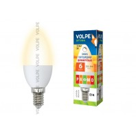 Светодиодная лампа диммируемая LED-C37-6W/WW/E14/FR/DIM/O/6Вт