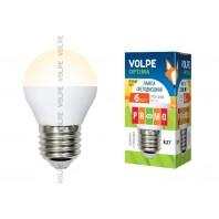 Светодиодная лампа Volpe LED-G45-6W/NW/E27/FR/O 6Вт
