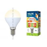Светодиодная лампа диммируемая LED-G45-6W/WW/E14/FR/DIM/O