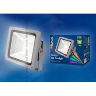 Светодиодный прожектор ULF-S01-30W/NW IP65 110-240В. Цвет свечения белый. Степень защиты IP65.