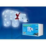 Фигура светодиодная «Белый медведь», 34*12*23 см, белый