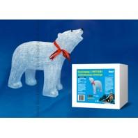 Фигура светодиодная «Белый медведь 1», 120 светодиодов, 60*21*48 см, белый