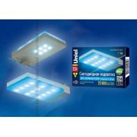 Подсветка светодиодная для стеклянных полок ULE-C01-1,5W/BLUE IP20 SILVER