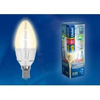 Светодиодная лампа диммируемая LED-C37-6W/WW/E14/FR/DIM
