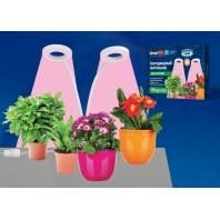 Светильник для растений светодиодный с таймером, на прищепке. ULT-P35-15W/SPLE/TM IP40 WHITE Спектр для фотосинтеза. TM Uniel