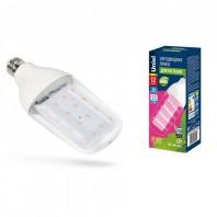Лампа светодиодная для растений. Форма «DOUBLESIDE», прозрачная. LED-B82-12W/SPBR/E27/CL PLP33WH Спектр для рассады и досвечивания в период роста. Картон. ТМ Uniel