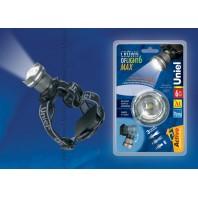 Головной фонарь Uniel серии Стандарт «Crown of light - 6 max» S-HL013-C Silver