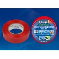Изоляционная лента Uniel UIT-135P 20/19/01 Красный