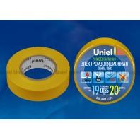 Изоляционная лента Uniel UIT-135P 20/19/01 Желтый