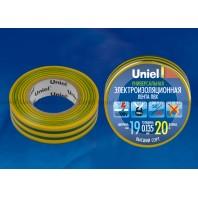 Изоляционная лента Uniel UIT-135P 20/19/01 Желтый-Зеленый