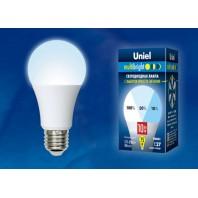 Светодиодная лампа Серия Multibright  белый свет (4000K) ТМ Uniel. LED-A60-10W/NW/E27/FR/MB PLM11WH