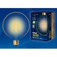Светодиодная лампа Vintage LED-G125-8W/GOLDEN/E27 GLV21GO  Форма «Шар»