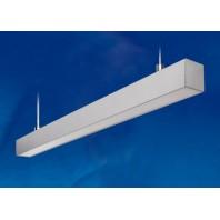 Светильник линейный светодиодный подвесной. ULO-K10D 30W/5000K/L60 IP65 SILVER. Белый свет (5000К). 2800Лм. Алюминий. Цвет серебро.