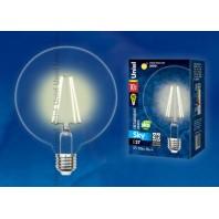 "Светодиодная лампа LED-G125-10W/NW/E27/CL PLS02WH Форма ""шар"", прозрачная колба. Цвет свечения теплый белый. Серия Sky"