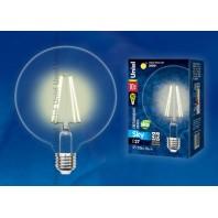 "Светодиодная лампа LED-G125-15W/NW/E27/CL PLS02WH Форма ""шар"", прозрачная колба. Цвет свечения теплый белый. Серия Sky"