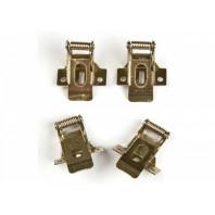 Комплект крепежных скоб на пружинах для установки в гипсокартон UFL-F04 SILVER 150 POLYBAG