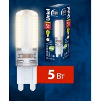 Светодиодная лампа LED-JCD-5W/NW/G9/CL/DIM SIZ03TR картон (Диммируемая)