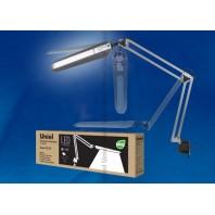 Настольная лампа светильник на струбцине TLD-524 Silver (Серый)