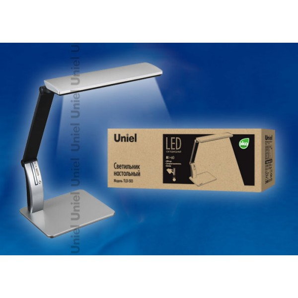 Настольная лампа светильник  TLD-503 Silver (Серебро)