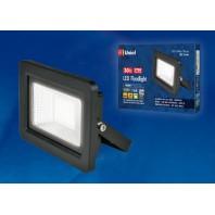 Прожектор светодиодный ULF-F19-20W/4000K IP65 175-250В BLACK. Белый свет (4000K). Корпус черный. TM Uniel.