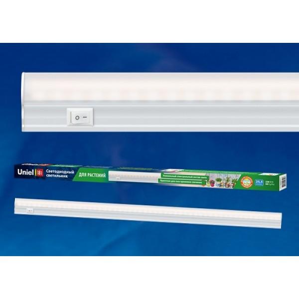 Светильник для растений светодиодный линейный ULI-P10-18W/SPFR IP40 WHITE, 550мм, выкл. на корпусе. Спектр для фотосинтеза