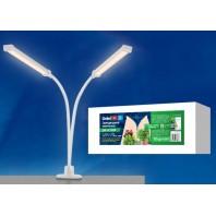 Светильник для растений светодиодный, на прищепке. ULT-P33-16W/SPFR IP40 WHITE. Спектр для фотосинтеза.