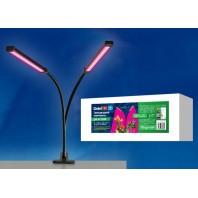 Светильник для растений светодиодный, на прищепке. ULT-P33-16W/SPSB IP40 BLACK. Спектр для фотосинтеза.
