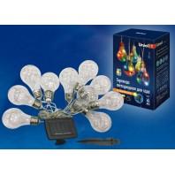 Светодиодный садовый светильник USL-S-126/PT4000 BULBS Садовая гирлянда на солнечной батарее Лампочки,10 светодиодов. Разноцветный свет. 1*АA Ni-Mh аккумулятор в/к. IP44 Uniel (UL-00003332)