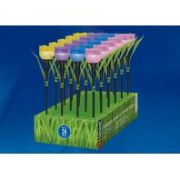 """Садовый светильник на солнечной батарее """"Тюльпан"""", в составе набора из 24 шт. USL-C-651/PT305 TULIP SET 24  Белый свет. 1*LR аккумулятор в/к. IP44"""