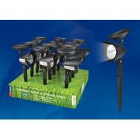 Светодиодный садовый светильник USL-C-691/PT270 FLASH SET12 на солнечной батарее,в составе набора из 12шт. Белый свет. 1*AA Ni-Cd аккумулятор в/к. IP44 Uniel (UL-00001688)