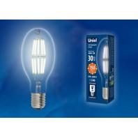 Лампа светодиодная, прозрачная высокой мощности LED-ED90-30W/NW/E40/CL GLP05TR. Белый свет (4000K)