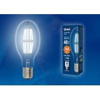 Лампа светодиодная, прозрачная высокой мощности LED-ED90-40W/DW/E40/CL GLP05TR. Белый свет (6500К)