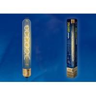 Ретро лампа накаливания Vintage. Форма «цилиндр» IL-V-L28A-60/GOLDEN/E27 CW01 длина 185 мм. Форма нити CW.