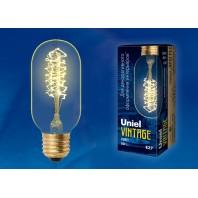 Ретро лампа накаливания Vintage. Форма «цилиндр»IL-V-L45A-40/GOLDEN/E27 CW01 Форма нити CW.