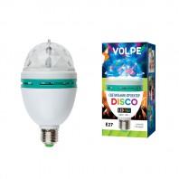 Светодиодный светильник-проектор ULI-Q301. Серия DISCO, многоцветный. ТМ VOLPE. Работа от сети 220В. Для установки в электропатрон Е27