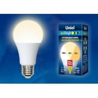 Светодиодная лампа Серия Multibright Теплый белый свет (3000K) ТМ Uniel. LED-A60-10W/WW/E27/FR/MB PLM11WH