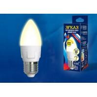 Светодиодная лампа диммируемая LED-C37 7W/3000K/E27/FR/DIM PLP01WH