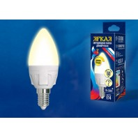 Светодиодная лампа диммируемая LED-C37 7W/3000K/E14/FR/DIM PLP01WH