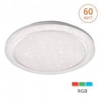 """Светильник LED LUNO RGB управляемый 60W + 8W RGB димм. 3000-6500K max пульт ДУ эффект """"звездного неба"""" RGB"""