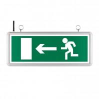 Светильник аварийный светодиодный WEL-1W/02-С 2ч, 1Вт, IP40, двусторонний «Выход Налево/Направо»