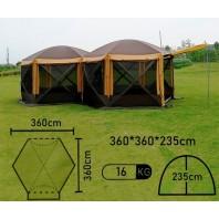 Полуавтоматический шестиугольный шатер-палатка с двумя входами арт.MIMIR2905-2TD